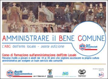 """Corso """"Amministrare il (Bene) Comune"""""""