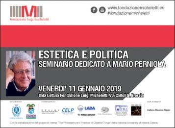 """Estetica e Politica"" - Seminario dedicato a Mario Perniola"