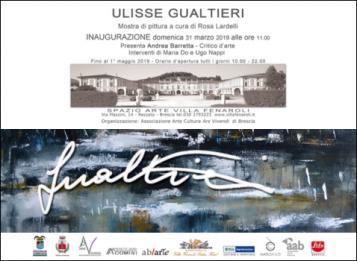 Personale d'arte contemporanea di Ulisse Gualtieri