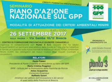 Seminario Il Piano d'Azione Nazionale sul GPP