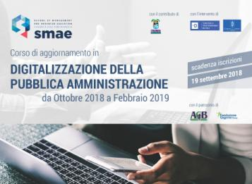 Corso di aggiornamento sulla digitalizzazione della Pubblica Amministrazione: iscrizioni entro il 19 settembre