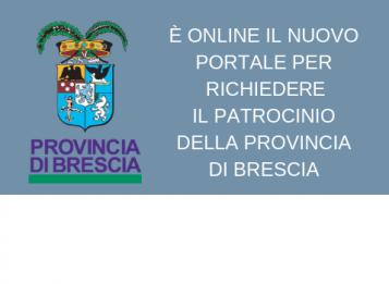 Portale per richiesta on line del patrocinio della Provincia di Brescia