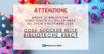 Coronavirus:  le Biblioteche della Rete Bibliotecaria Bresciana e Cremonese (RBBC)