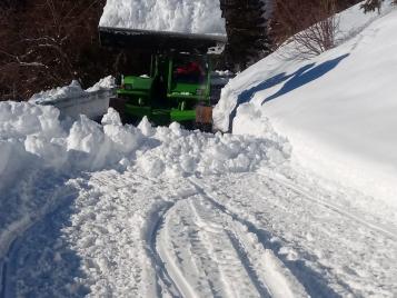 Sgombero precauzionale della SP BS 345 da località Campolaro alla località Nodano il 1 gennaio