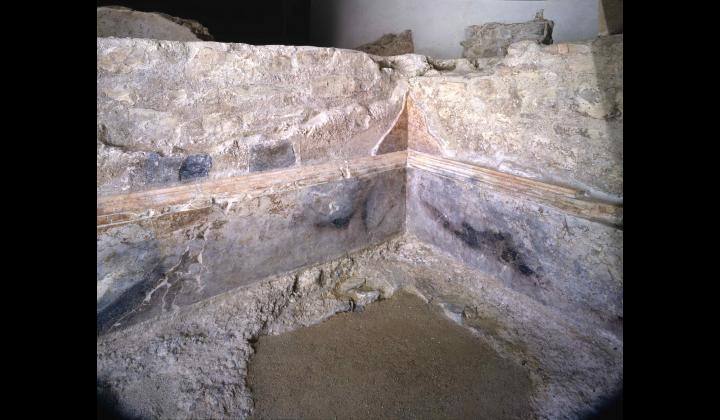 Rivestimento marmoreo della vasca di età flavia