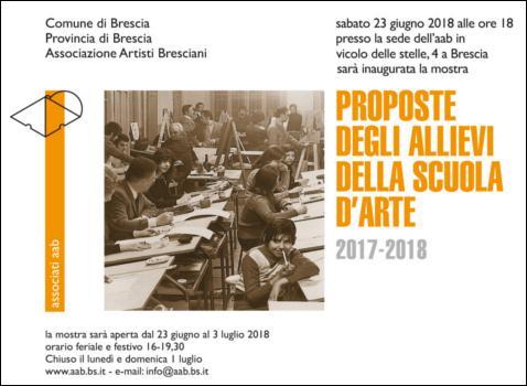Proposte degli allievi della scuola d'arte 2017-2018