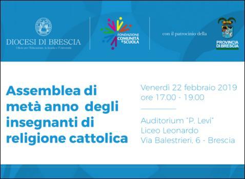 Incontro di formazione sull'Insegnamento della Religione Cattolica