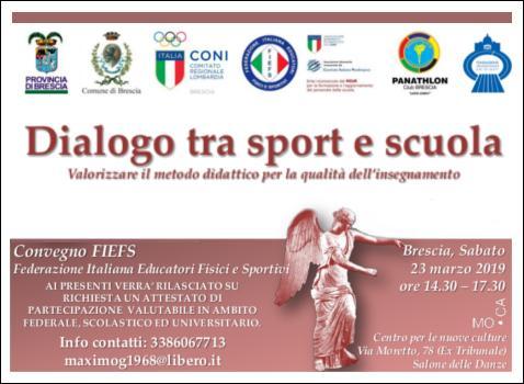 Dialogo tra sport e scuola - Valorizzare il metodo didattico per la qualità dell'insegnamento