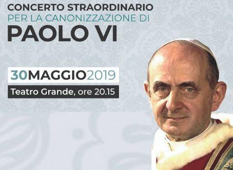 Concerto straordinario per la canonizzazione di Paolo VI