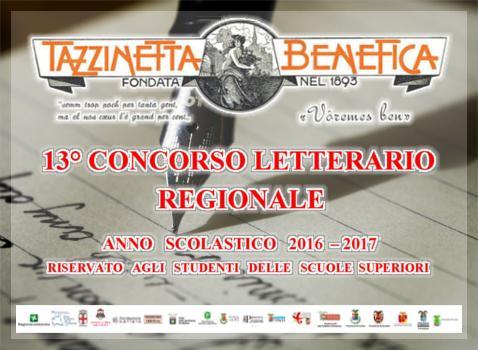 13° Concorso Letterario Regionale Tazzinetta Benefica