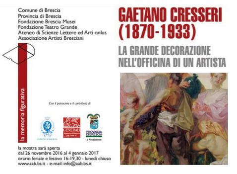 Gaetano Cresseri (1870-1933) - la grande decorazione nell'officina di un artista