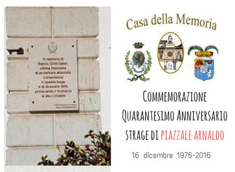 Commemorazione Quarantesimo Anniversario