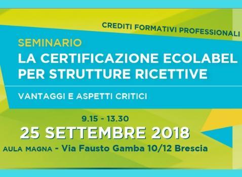 La certificazione ecolabel per strutture ricettive - Seminario