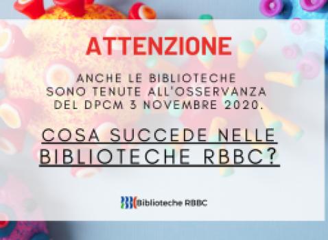 Coronavirus: le biblioteche della Rete Bibliotecaria Bresciana e Cremonese (RBBC) - Aggiornamento