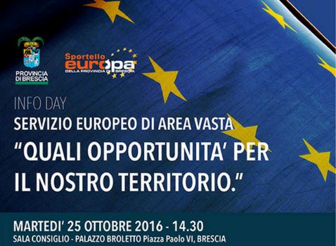 Info Day - Quali opportunità per il nostro: Territorio Servizio Europeo di Area Vasta